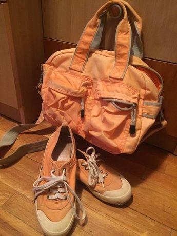 Спортен комплект в оранжево