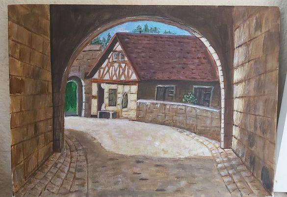 Картина на немска къщичка