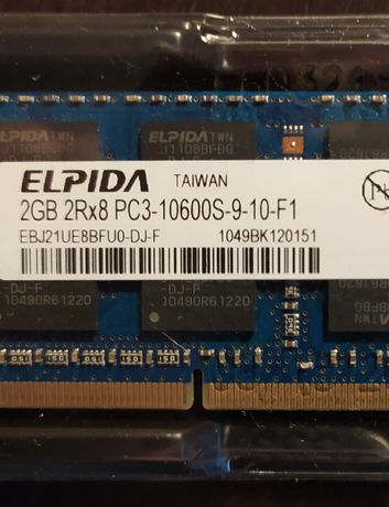 2GB RAM DDR3 SO-DIMM max rate1333Mhz