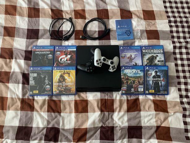 Продается PlayStation 4 Slim 500Gb + 14 Игр