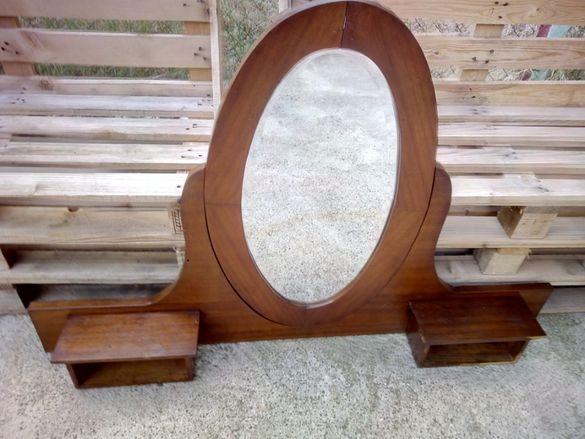 Старо дървено огледало за скрин