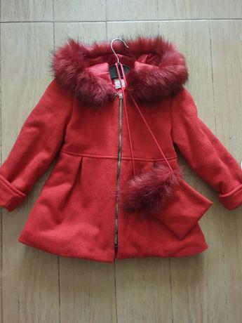 Детско палто с чантичка 104-110см