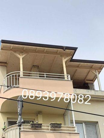 Навеси ремонт на покриви хидроизолация  покриви покривни  конструкции