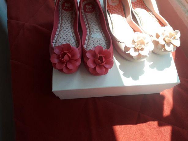 Vand balerini ZAXY marimea 35-36, culoare roz, pret 70 lei