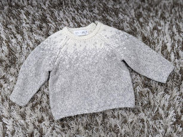 Pulover ZARA din tricot jacard, marimea 68, 3-6 luni