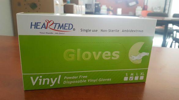 Винилни ръкавици размер S,M,L цена 16лв за 100бр!!!