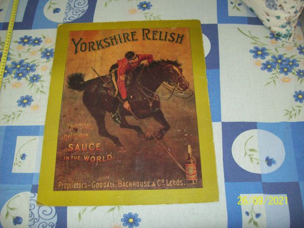 Vintage Reclama pliant vechi bautura Yorkshire Relish