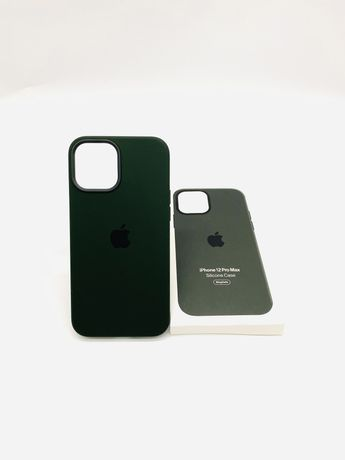 Husa apple silicon magsafe pentru iPhone 12 pro max cyprus green