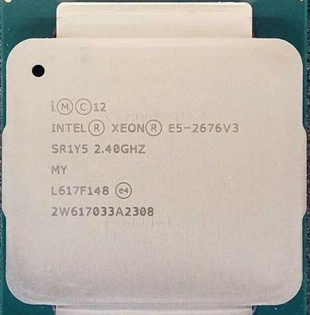 2 procesoare Xeon E5-2676V3 24 core/48 tread 2.4Ghz server R430 X99