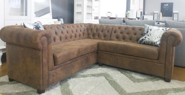 Vand coltar chesterfield brown L