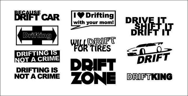 Stickere auto | diverse modele | modele la comanda | DRIFT