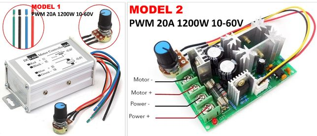 PWM 20A 10-60V - control regulat. Regulator de turatie motor cc