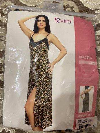 Леопардовый пеньюар из прекрасной ткани