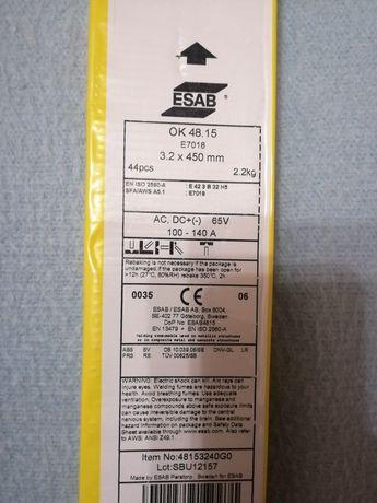 Электроды ESAB OK 48.15 3.2x450 Е 7018 (2,8кг) 2100 за кг. Пачка 2.2кг