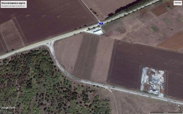 10 дка земеделска земя-НИВА-на Републикански път I-9 и кръстовище