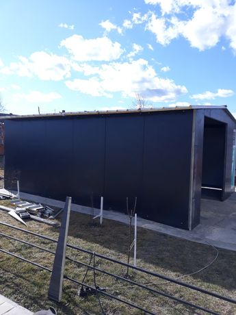 Vand garaj metalic si panou izolat termic 6 m cu 5 m