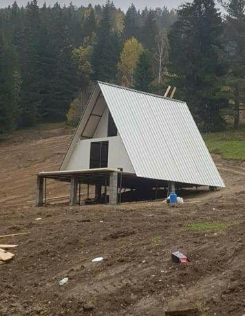Vand căsuțe cabane lemn masiv fără nici un avans