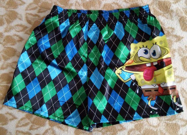 Pantaloni scurti (Șort) plaja H&M, material lucios, marime S
