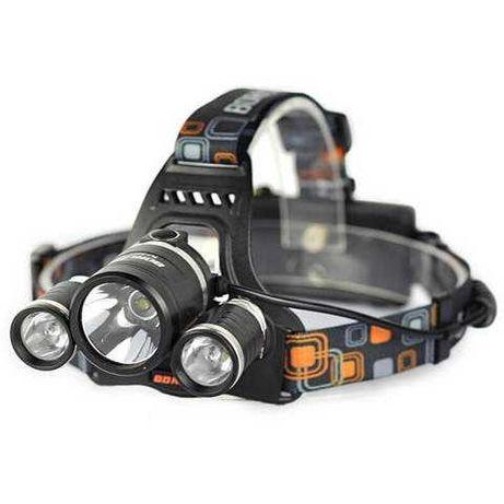 Фонарь налобный с тремя светодиодами HL-003