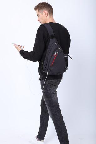 Шикарный большой слингбэг рюкзак супер-бренда KAKA модель 99001 Plus