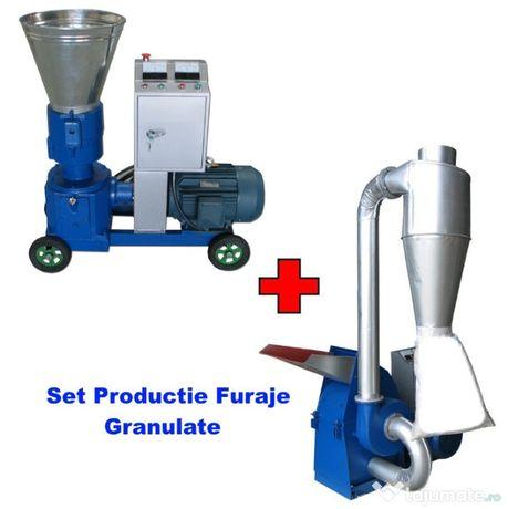 Set Profesional Granulator 7,5kW + Moara cu ciocanele 7,5kW