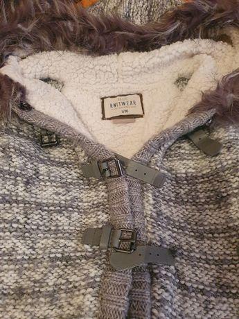 Плетено яке с качулка Bershka