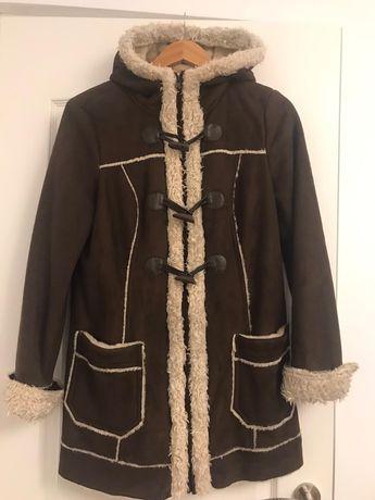 Palton maro imblanit C&A - marime M