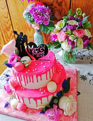 Топер за торта Mr & Mrs