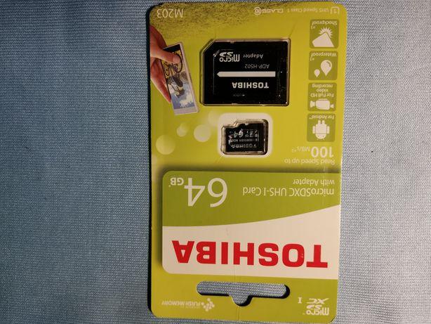 Toshiba Micro SDXC UHS-I Card 64 GB Class 10