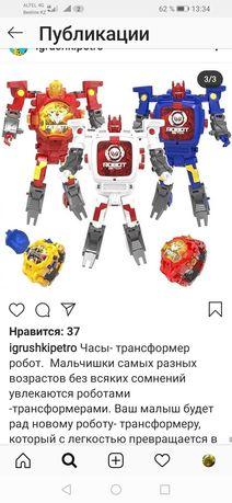 Часы трансформер робот