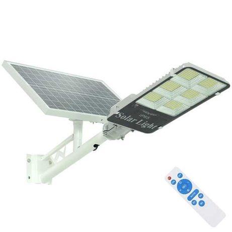 Kit cu panou solar,bec cu led 200 watt,telecomanda,acumulatori,nou.