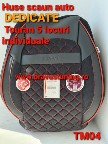 Huse scaun auto PREMIUM dedicate TOURAN 5 locuri INDIVIDUALE 2003-2008
