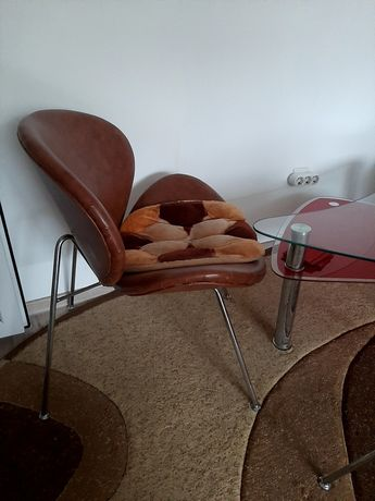 Masa de sticla +fotolii scaun