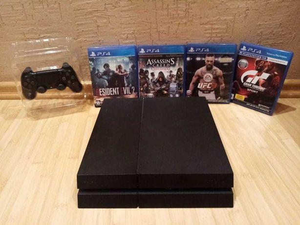 Продам Playstation 4  с играми  на дисках обмен на телефон