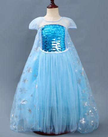 Новое! Платье Эльзы нежное, воздушное от 3 до 7 лет