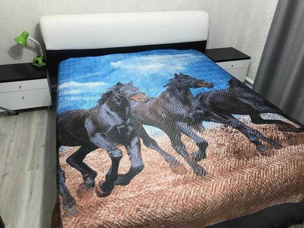 Продам двухспальную кровать, комод с зеркалом и тумбы