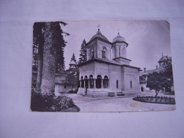 Vand carte postala veche,RPR Biserica Sinaia,alb negru