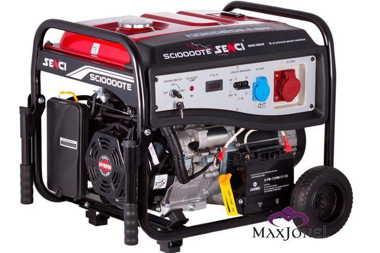 SC10000TE II Generator Senci Max cu roti si manere