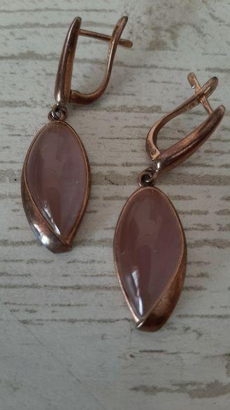Розово сребро и котешки камък