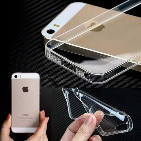 Husa Elegance Luxury slim transparent pentru Apple iPhone 5/5S/5SE