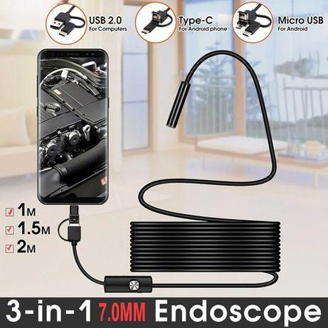 Эндоскоп камера на проводе подводная камера для рыбалки камера для сто