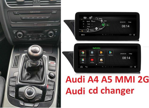 Navigatie GPS Android Audi A5 A4 MMI 2G 3G AUDI Q5  Wi-Fi Bluetooth