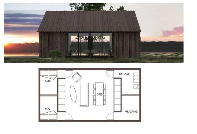 Kit lemn casa vacanta de la 50 mp