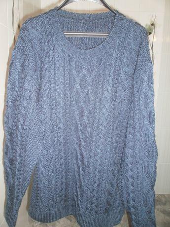 Зимни ръчно плетени мъжки пуловери