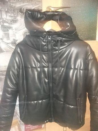 Куртка эко кожа тёплая