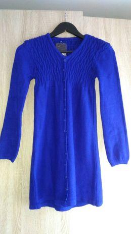 Bluză lungă albastră, mărime XS
