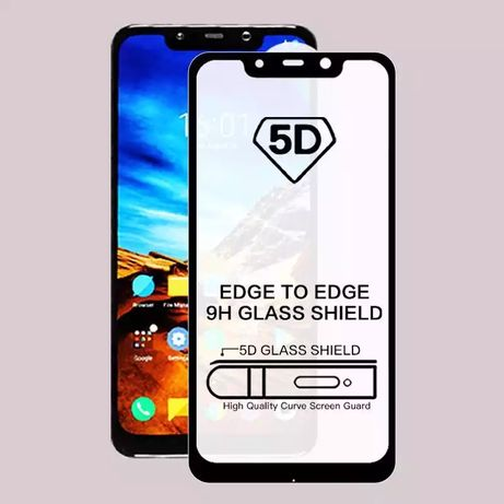 5D Стъклен протектор Xiaomi Redmi Note 8 7 6 5 Pro Mi A2 Lite A1 S2 6A