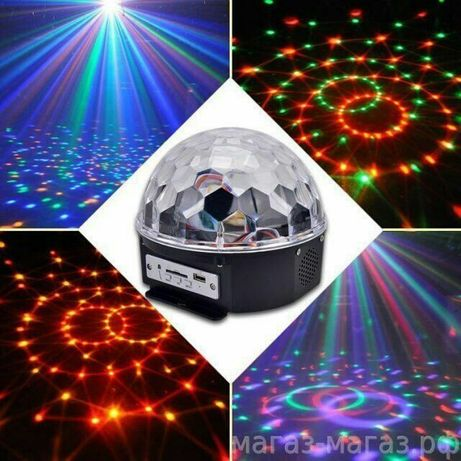 Светомузыка диско шар
