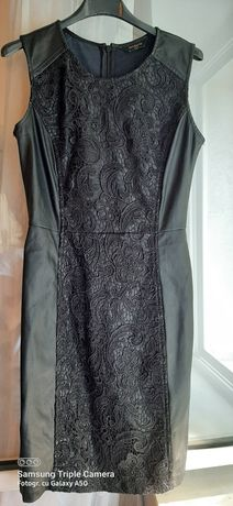 Rochie din piele ecologica