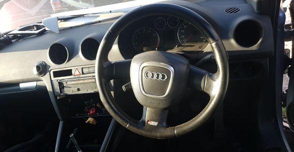Продавам трилъчен кожен S-Line волан за Audi a3 8p / Ауди а3 8п С Лайн